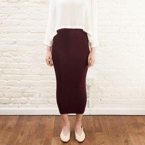 MIMU MAXI Skirt Leggings - Plum